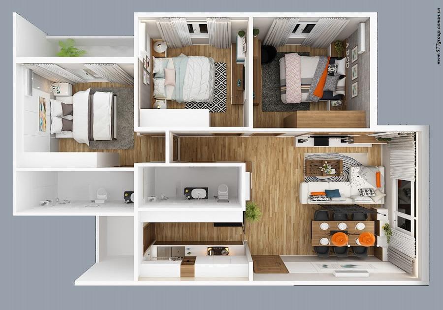 Thiết kế căn 3PN